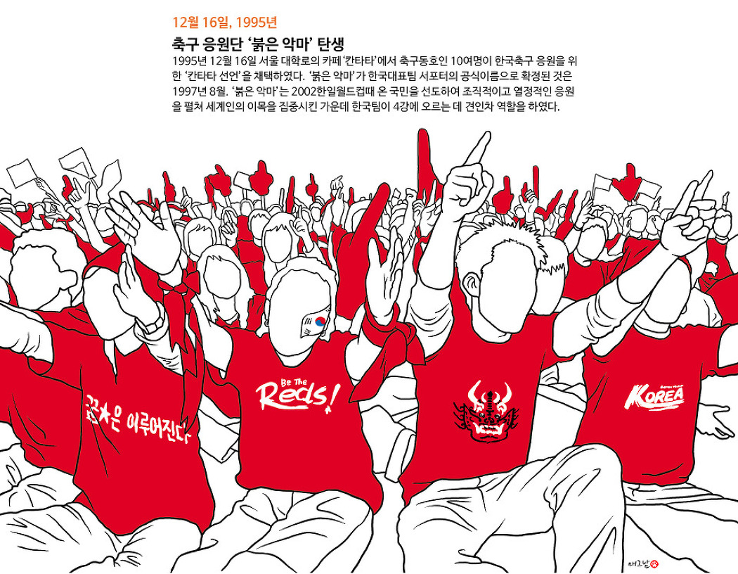 축구응원단 '붉은 악마' 탄생
