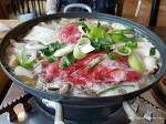 성화동 한우 버섯 전골 (소고기 굽는 풍경)
