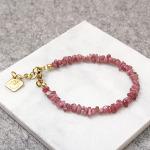 [1289] 핑크 투어마린 천연 원석 칩스 팔찌