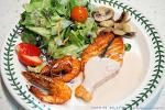 [요리 레시피] 새우 연어스테이크만들기, 연어굽기, 소스, 셀러드 만들기