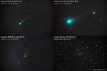 4개의 밝은 혜성들 (Four bright comets)