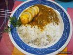 콜카타에서 먹은 새우커리를 떠올리며 만든 카레덮밥