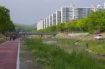 개통을 앞둔 안산천변 자전거도로(산책로)
