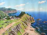 해변가의 마을