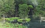 수림속의 호수가
