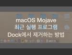 맥북 모하비 Dock 최근 실행 앱 제거하는 방법