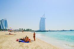 두바이 자유여행, 버즈 알 아랍이 보이는 주메이라 비치 (Jumeriah Public Beach)