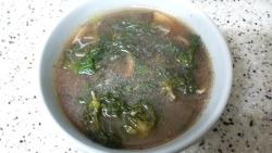 (냉이국) # 강원도에서 늦게 자란 냉이로 냉이국을 긇여요.