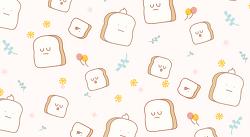스마트폰 배경화면_갓 구운 식빵 패턴