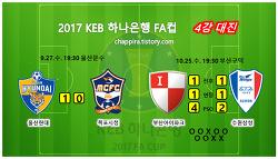 2017 KEB하나은행 FA컵 4강 결과,대진,일정