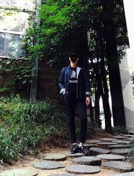 [남자 청청 패션 : 데님 코디] 남자 데님 셔츠 자켓 코디 + 남자 데님 슬랙스 코디 with 구두 / 2016. 10. 01