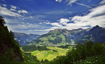 스위스 여행 풍경사진 - 천사의 마을 엥겔베르크를 한눈에 내려다 보다.