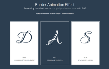 [HTML/CSS] CSS3를 이용한 Border Animation Effect 입니다.