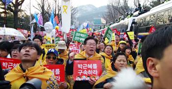 6차광화문촛불집회 세월호유가족&이재명