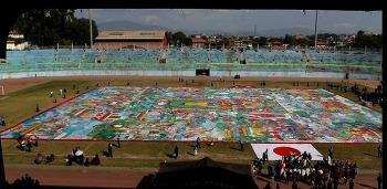 세계에서 가장 큰 탕카, 네팔 카트만두에서 일반인에 공개돼