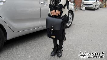 대학 입학 선물 북유럽 디자인 백팩 가스톤 루가 클래시 블랙 & 블랙