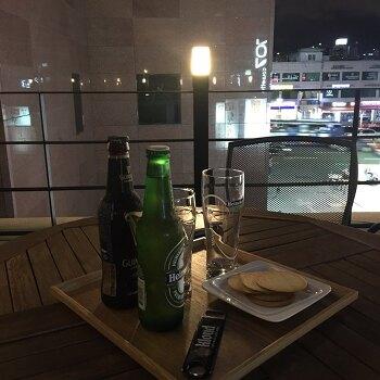 [논현] 야외 테라스에서 마시는 맥주 한 잔 ; 카페 707chouette (707슈에뜨) 메뉴 및 가격