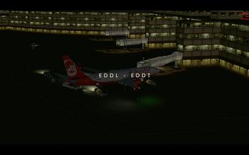 [P3D v4]EDDL-EDDT B738 Air Berlin flight video