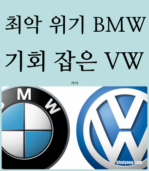 최악 위기 BMW, 기회 잡은 폭스바겐