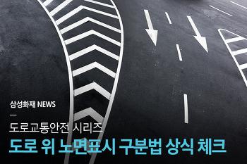 역삼각형? 물결표시? 알쏭달쏭 도로 위 노면표시 구분법