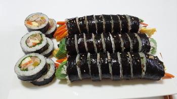 속이 꽉 찬 엄마표 '깻잎 참치김밥' 만들기