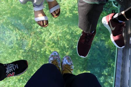 여수 해상케이블카 탑승기(바닥 투명한거)