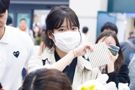 171009 아이유 인천공항 입국 직찍