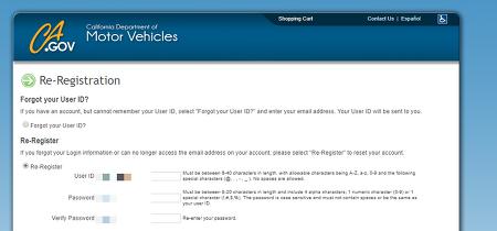 미국 DMV 비밀번호 분실시 재등록 방법 (Forgot DMV CA GOV Password, How to re-register or change password?)
