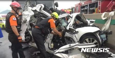 고속도로 7중추돌 사고