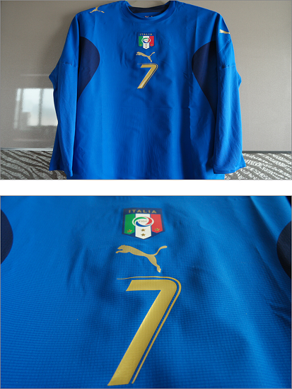 2006-2008 Italy Home Player Issue Shirt L/S