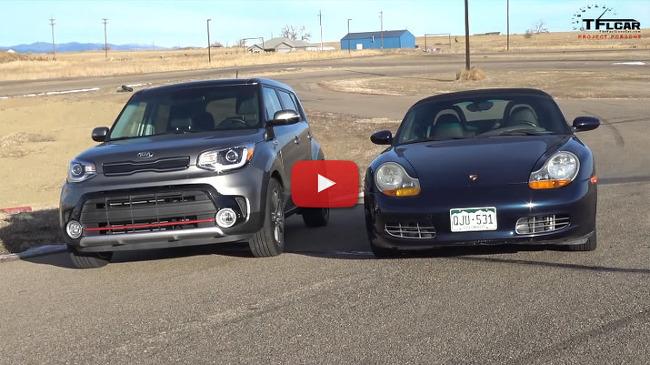 [MOVIE] 드래그 레이스: Kia Soul Turbo vs Porsche Boxster