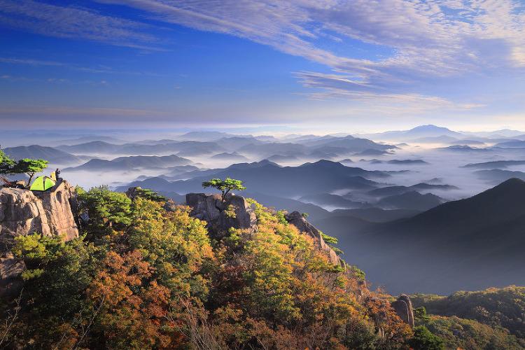 대둔산의 가을, 10월 중순...