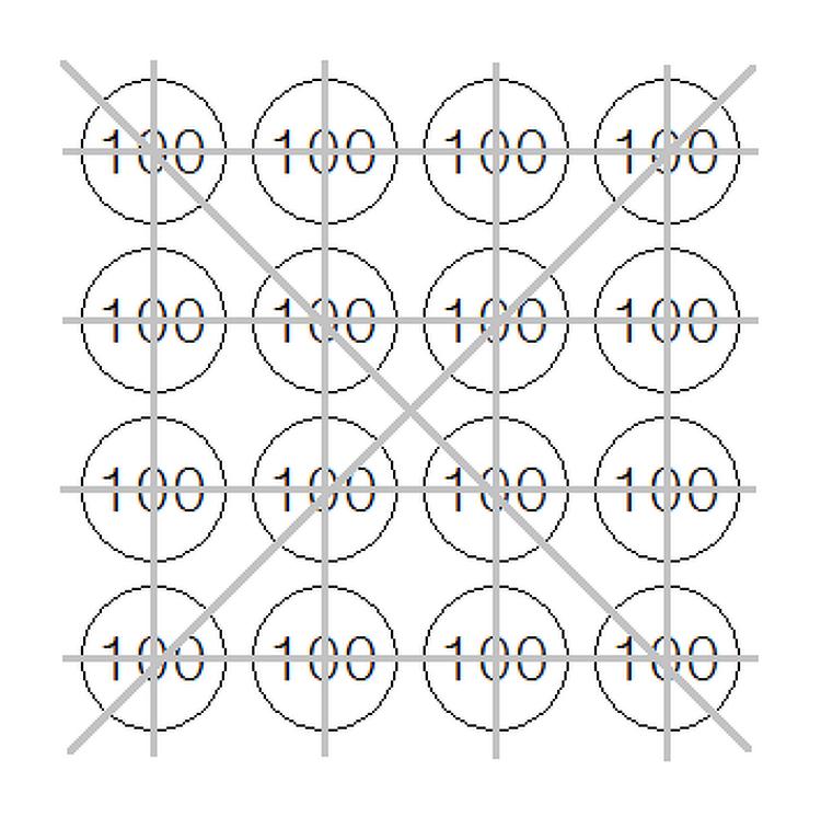 동전으로 4개씩 n줄 만들기