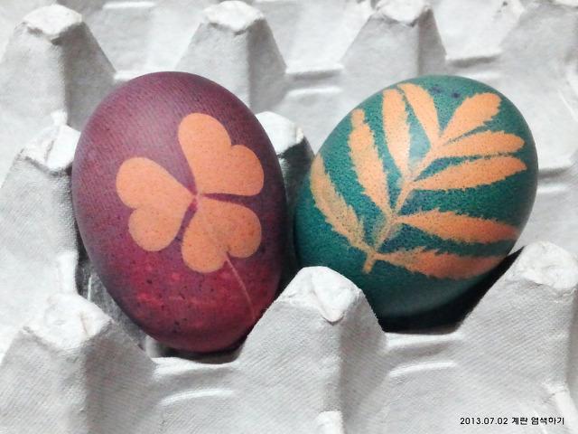 계란 염색 - 영어센터