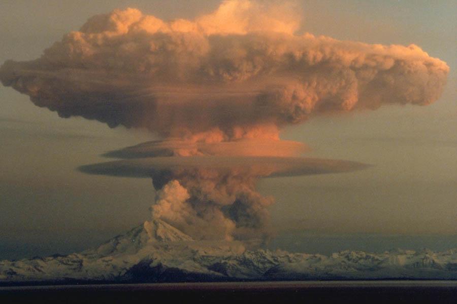 1990년 화산 폭발 당시 모습