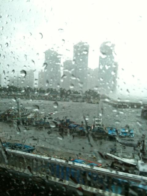 태풍 뎬무 상륙( 이시각 부산)