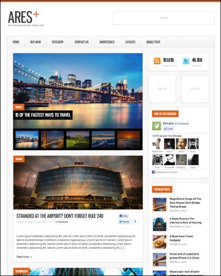 ARES Clean WordPress theme