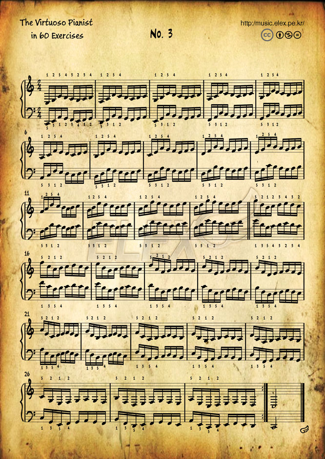 The Virtuoso Pianist in 60 Exercises #3