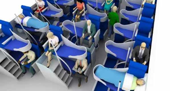 본격적인 복층(2층) 형태의 좌석들
