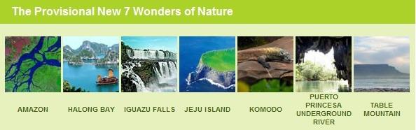 세계7대자연경관 new7wonders