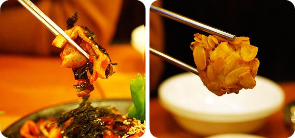 목껍질무침과 복튀김