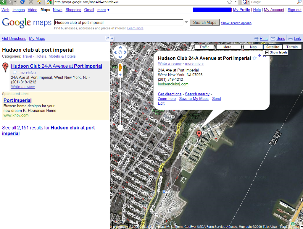 구글 맵을 이용한 위성사진 [구글 맵에서 화면 캡처]