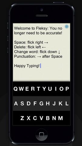 Fleksy - Happy Typing  아이폰 키보드