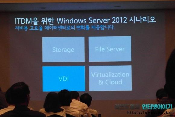 윈도우 서버 2012 신제품 시나리오