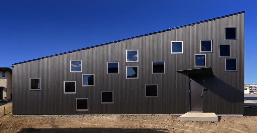 지그재그 창문패턴 하우스 Studiogreenblue House Of Sunlight