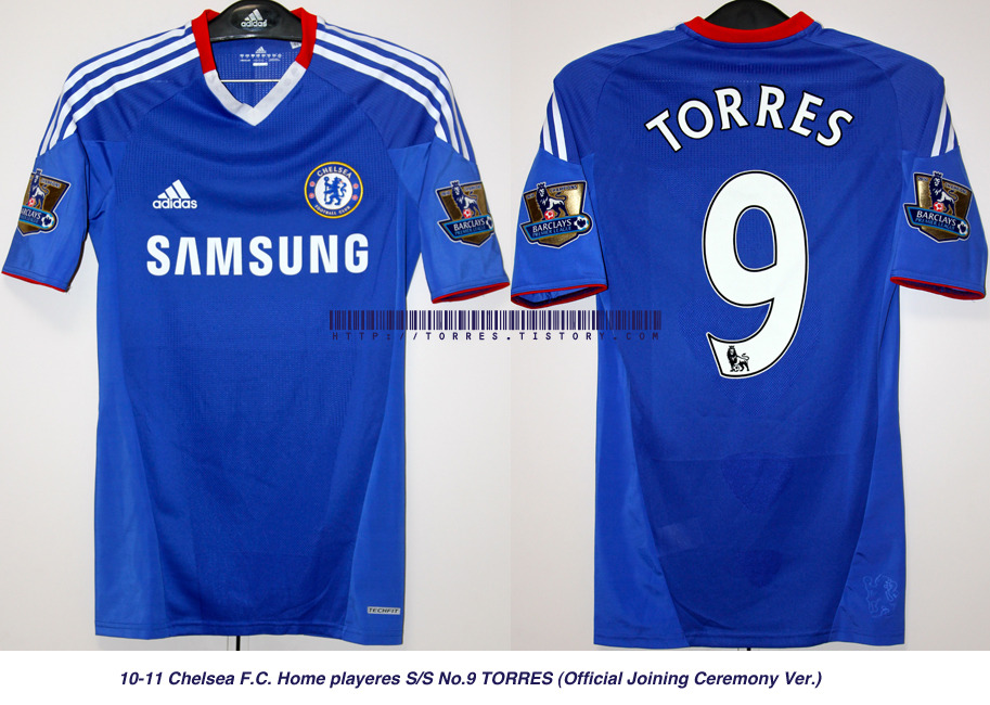 10-11 Chelsea F.C. Home players S/S No.9 TORRES (Official Joining Ceremony Ver.  Techfit)