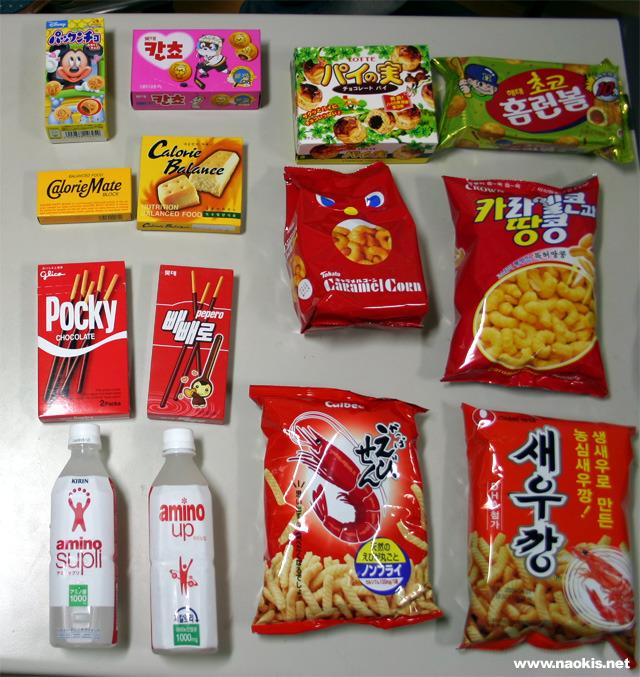 日本製のお菓子と