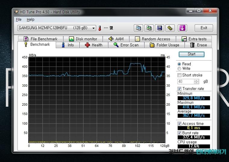 HP 엔비 스펙터XT HD Tune Pro