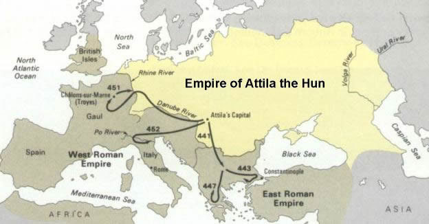 아틸라 훈 영토 Attlia the Hun territory