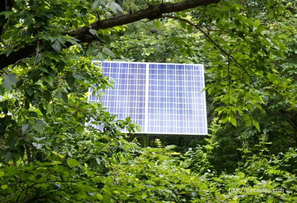 자외선 살균기 전원용 태양광 발전판넬
